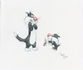 Animation Art:Production Drawing, Virgil Ross - Sylvester and Sylvester Jr. Illustration (Warner Brothers, c. 1990s)....