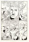 Original Comic Art:Panel Pages, Keith Giffen, Kevin Maguire and Joe Rubinstein Justice League International #23 Story Page 21 Guy Gardner and Mist...