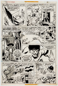 Gil Kane and Klaus Janson Giant-Size Defenders #2 Story Page 3 Hulk Original Art (Marvel, 1974)
