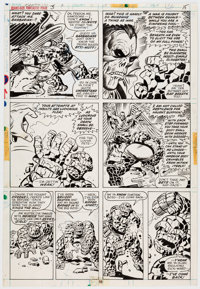Rich Buckler and Joe Sinnott Giant-Size Fantastic Four #3 Story Page 15 Original Art (Marvel Comics, 1974)