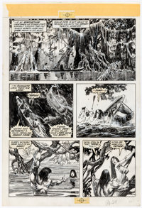 "Alfredo Alcala The Savage Sword of ConanPages 29-31 from ""The Demon in the Dark"" Original Art Group of 3 (Marv..."