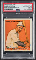 "Autographs:Sports Cards, Signed 1970's Reprint ""1933"" Goudey Babe Herman PSA/DNA Authentic. ..."
