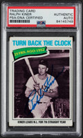 """Autographs:Sports Cards, Signed 1977 Topps """"Turn back The Clock"""" Ralph Kiner #437 PSA/DNA Authentic. ..."""