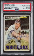 Autographs:Sports Cards, Signed 1967 Topps Hoyt Wilhelm #422 PSA/DNA Authentic. ...