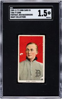 1909-11 T206 Ty Cobb Portrait Red Background with Ty Cobb Back SGC Fair 1.5