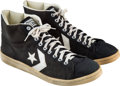 Basketball Collectibles:Others, 1985 Larry Bird NBA Finals Game Worn & Signed Sneakers....