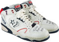 """Basketball Collectibles:Others, 1992 Larry Bird Barcelona Olympics Game Worn & Signed """"Dream Team"""" Sneakers, Personally Gifted to Friend for Christmas...."""