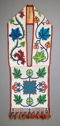 American Indian Art:Beadwork and Quillwork, A Great Lakes Beaded Cloth Bandolier Bagc. 189...