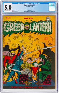 Green Lantern #19 (DC, 1946) CGC VG/FN 5.0 Cream to off-white pages
