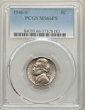 Jefferson Nickels, 1946-S 5C MS66 Full Steps PCGS. PCGS Population: (67/4). NGC Census: (1/0). CDN: $225 Whsle. Bid for problem-free NGC/PCGS ...