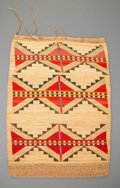 American Indian Art:Pipes, Tools, and Weapons, A Nez Perce Twined Cornhusk Bag. c. 1890...