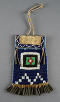 American Indian Art:Beadwork and Quillwork, A Kiowa Strike-A-Light Bag. c. 1890...