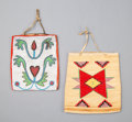 American Indian Art:Beadwork and Quillwork, Two Plateau Flat Bags. c. 1890... (Total: 2 Items)