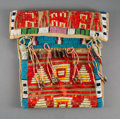 American Indian Art:Beadwork and Quillwork, A Sioux Quilled Hide Mirror Bag       c. 1890 ...