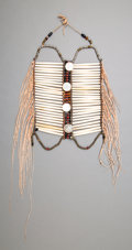 American Indian Art:Pipes, Tools, and Weapons, A Plains Breast Plate. c. 1880...