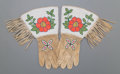 American Indian Art:Beadwork and Quillwork, A Pair of Shoshone Beaded Hide Gauntlets... (Total: 2 Items)