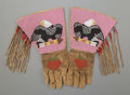 American Indian Art:Beadwork and Quillwork, A Pair of Plateau Pictorial Beaded Hide Gauntlets... (Total: 2 Items)
