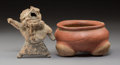 Pre-Columbian:Ceramics, Two Pre-Columbian Items  includ...