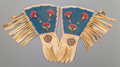 American Indian Art:Beadwork and Quillwork, A Pair of Plateau Beaded Hide Gauntlets... (Total: 2 Items)