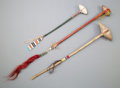 American Indian Art:Pipes, Tools, and Weapons, Three Plains Stonehead Clubs. c. 1900. ... (Total: 3 Items)