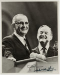 Political:Miscellaneous Political, Johnson & Humphrey: 1964 Campaign Photo, Boldly Autographed by Both.. ...