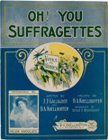 Political:Small Paper (1896-present), Woman's Suffrage: Colorful Sheet Music.. ...