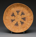 American Indian Art:Baskets, A Mission Coiled Tray...