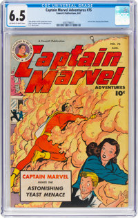 Captain Marvel Adventures #75 (Fawcett Publications, 1947) CGC FN+ 6.5 Off-white to white pages