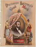 Political:Small Paper (pre-1896), Abraham Lincoln: Wonderful Full-Color Sheet Music.. ...