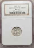 Seated Dimes, 1885 10C MS64 NGC. Ex: Richmond Collection. NGC Census: (93/121). PCGS Population: (99/99). MS64. Mintage 2,532,497....