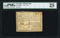 Colonial Notes:Georgia, Georgia 1776 $1/4 PMG Very Fine 25.. ...