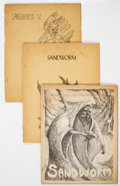 Memorabilia:Fanzines, Sandworm #8, 9, and 12 Fanzine Group (Bob Vardeman, 1968-70). Condition: Average VG-.... (Total: 3 Items)