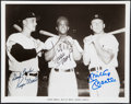 Autographs:Photos, Maris, Mays, & Mantle Multi-Signed Photograph....