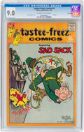 Silver Age (1956-1969):Humor, Tastee-Freez Comics #4 Sad Sack - File Copy (Harvey, 1957) CGCVF/NM 9.0 Off-white to white pages....