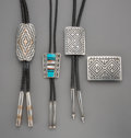 American Indian Art:Jewelry and Silverwork, Four Navajo Jewelry Items. c. 1990... (Total: 4 Items)