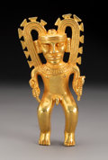 Pre-Columbian:Metal/Gold, An Important Diquis Gold Figure. c. 700-1400 AD...
