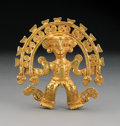 Pre-Columbian:Metal/Gold, A Superb Diquis Gold Pendant. c. 700-1400 AD...