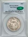 Commemorative Silver, 1935-S 50C San Diego MS66 PCGS. CAC. PCGS Population: (1789/213). NGC Census: (705/98). MS66. Mintage 70,132. ...