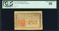 Colonial Notes:New Jersey, New Jersey March 25, 1776 6s PCGS Choice About New 58....