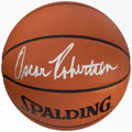 Basketball Collectibles:Balls, Oscar Robertson Signed Basketball. Offered here is...