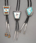 American Indian Art:Jewelry and Silverwork, Three Southwest Bolo Ties... (Total: 3 Items)