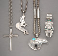 American Indian Art:Jewelry and Silverwork, Four Southwest Silver Necklaces / Pendants... (Total: 4 Items)