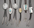 American Indian Art:Jewelry and Silverwork, Six Southwest Bolo Ties... (Total: 6 Items)