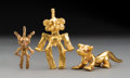 Pre-Columbian:Metal/Gold, Three Central American Gold Pendants... (Total: 3 Items)