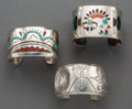 American Indian Art:Jewelry and Silverwork, Three Southwest Cuff Bracelets... (Total: 3 Items)