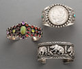 American Indian Art:Jewelry and Silverwork, Three Navajo Cuff Bracelets... (Total: 3 Items)