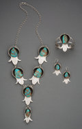American Indian Art:Jewelry and Silverwork, A Navajo or Hopi Jewelry Suite. ... (Total: 4 Items)