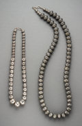 American Indian Art:Jewelry and Silverwork, Two Southwest Silver Bead Necklaces... (Total: 2 Items)