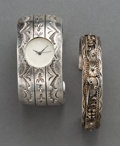 American Indian Art:Jewelry and Silverwork, Two Navajo Silver Bracelets... (Total: 2 Items)