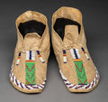 American Indian Art:Beadwork and Quillwork, A Pair of Northern Arapaho Beaded Hide Moccasins... (Total: 2 Items)